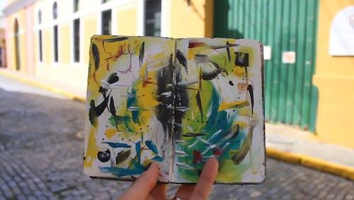 Abstract Art Paintings On Sketchbook