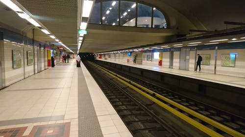 A Train Arriving at a Station