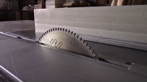 Close Up of a Table Saw