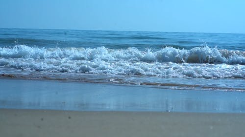 Footage Of The Ocean Waves In Slow Motion