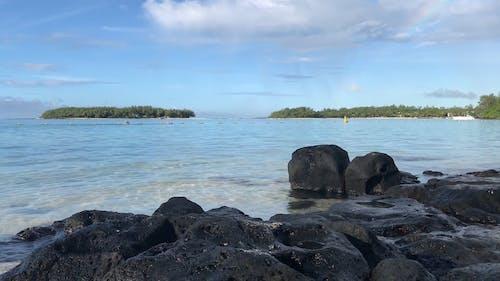 Imágenes De ángulo Bajo De La Playa Con Olas