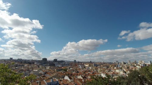 Time Lapse Video Of Cloud Formations Hovering Over A City