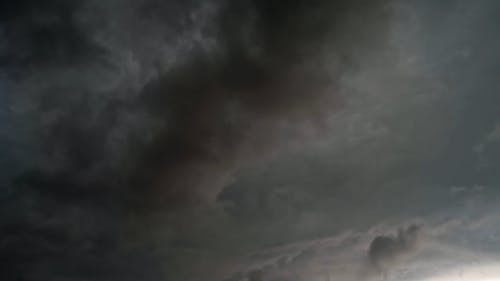 Footage Of A Incoming Storm In Time Lapse