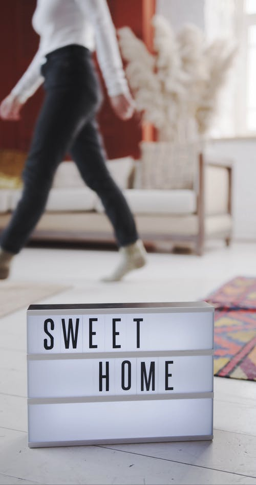 A Light Text Signboard With Showing The Context Of A Sweet Home