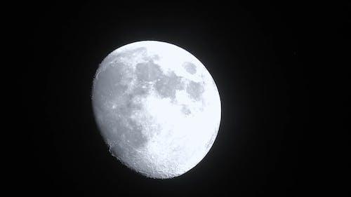 The Brightness Of The Moon At A Very Dark Night
