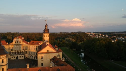 Drone Shot of Nesvizh Castle