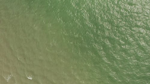 Drone Footage OF The Sea Water In Slow Motion