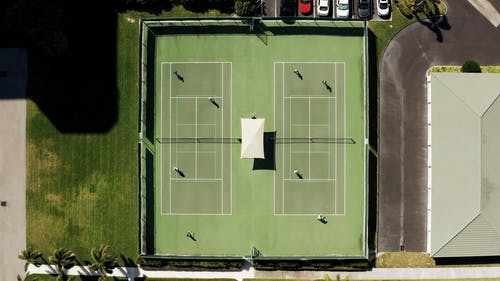 Aerial Footage Of People Playing