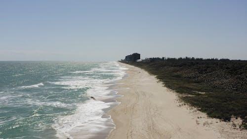 Drone Footage Of An Island's Coastline