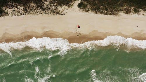 Drone Shot of a Beach