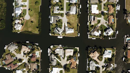 Drone Shot of a Residential Area