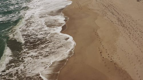 Aerial Footage Of The Beach Using Drone