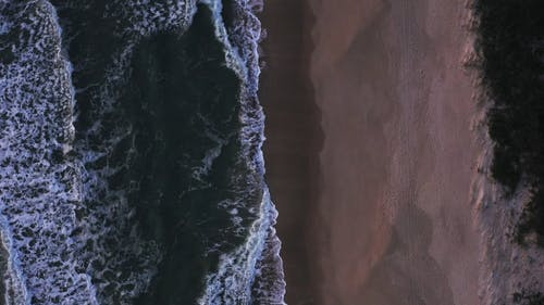 Drone Footage of An Empty Beach