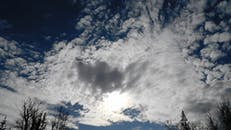 White Clouds In The Sky Covering The Sun