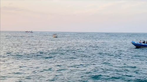 Footage Of The Boats And The Sunset