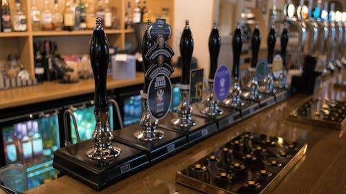 Bar Pump Handles on a Bar Counter
