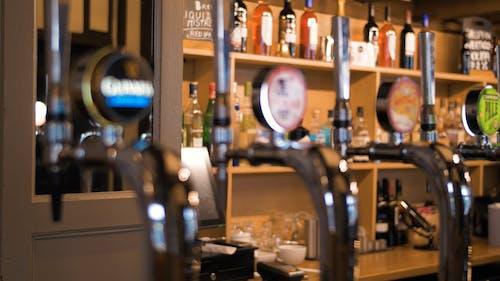 Close Up of Beer Pumps at the Bar