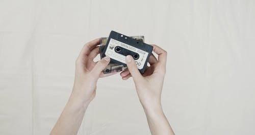 Cassette Tapes With Music Recording