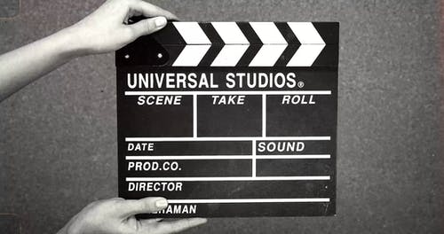 A Vintage Clapperboard Used In Making Film Scenes