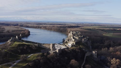Drone Footage Of A Castle Ruins