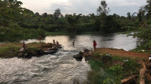 Footage Of The Children In The River
