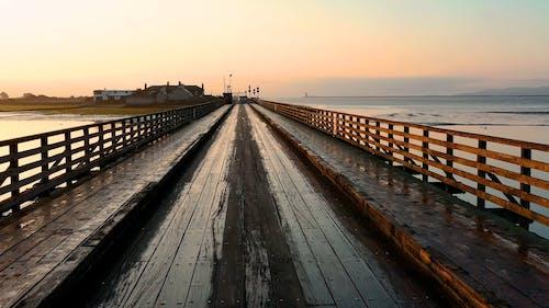 A Wooden Bridge Built Above Water