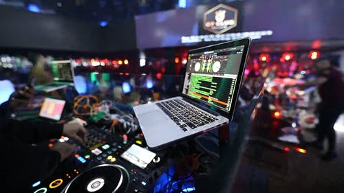 A Shot of a DJ Boot in the Club