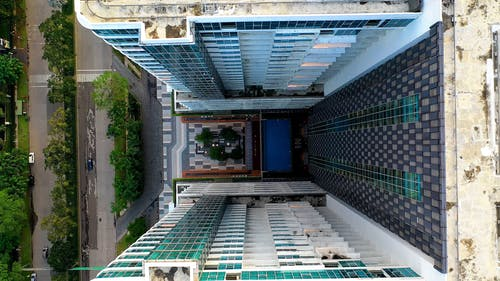 A Drone Footage of a Condominium in Indonesia