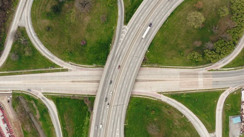 Drone Footage Of Multi Lane Highways And Flyovers