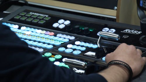 Close-up Footage Of A Control Panel