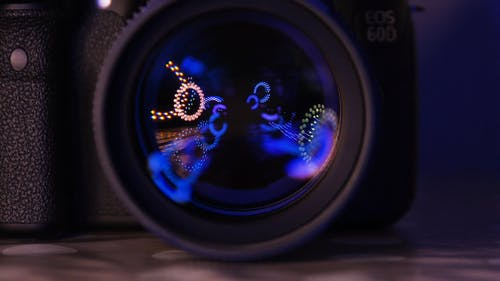 Lighting Effects On A Camera Lens