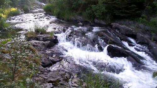 Rocky River Of Freshwater Flowing