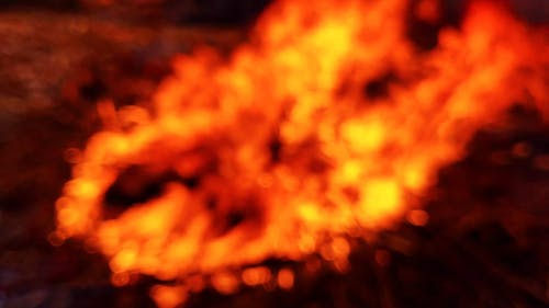 Blurred Video Of A Fire Burning Flame