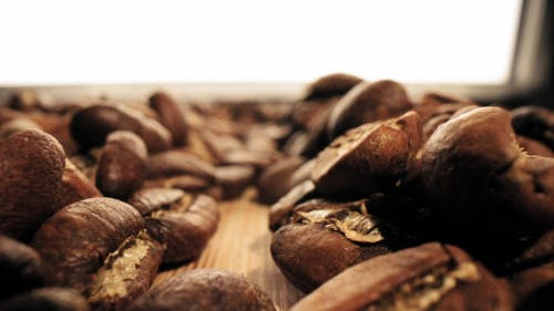 Close-up Footage Of Roasted Coffee Beans