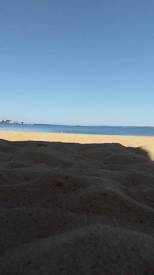 White Sand Of The Beach Shore