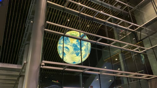 The Image of Planet Earth In A Science Museum