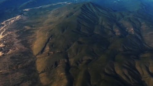 Aerial Shot Of The Mountain Ranges