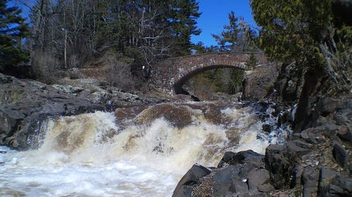 River Flowing With Strong Current