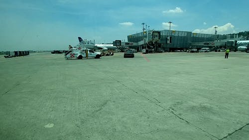 An Outdoor Shot of an Airport Docking Area