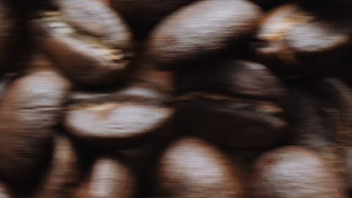 Close Up Footage Of Roasted Coffee Beans