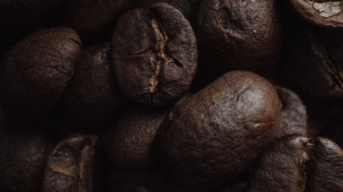 Close-up Shot Of Roasted Coffee Beans