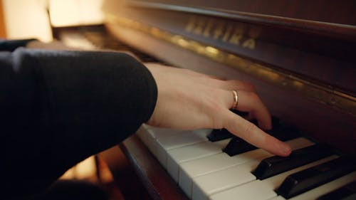 A Male Musician Skillfully Playing The Piano