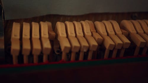 The Moving Keys Of A Piano Being Played