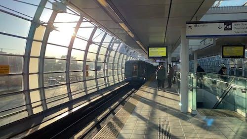 Arriving Train Service on the Platform
