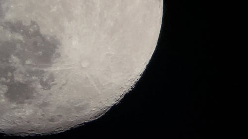Craters Visible on Moon Surface