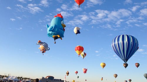 Watchers And Participants In An International Hot Air Balloon Festival