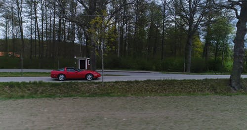 Red Car on the Road