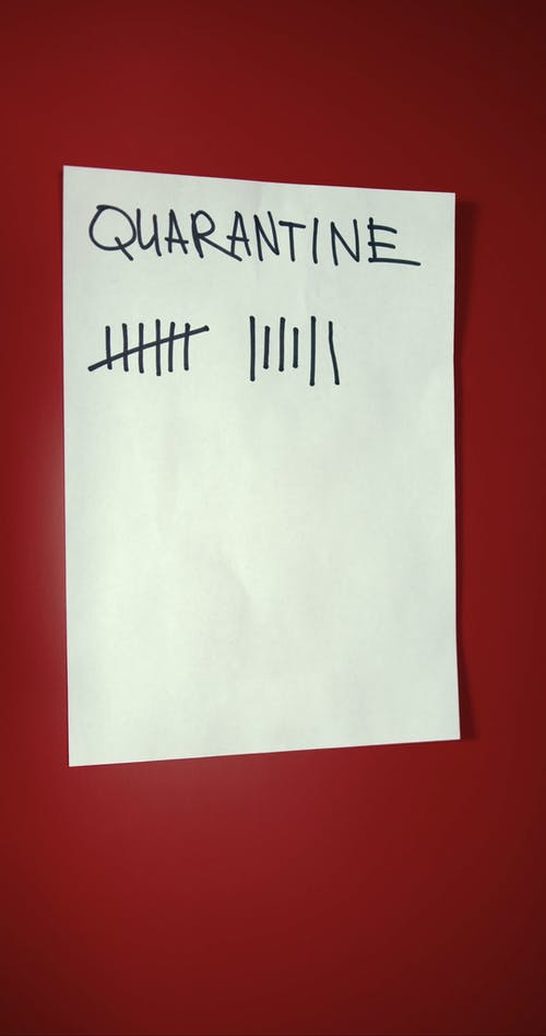 Counting The Days In Home Quarantine Recorded In paper