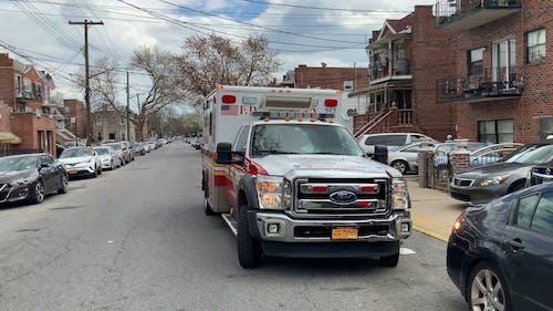 Close-Up Shot of a Parked Ambulance