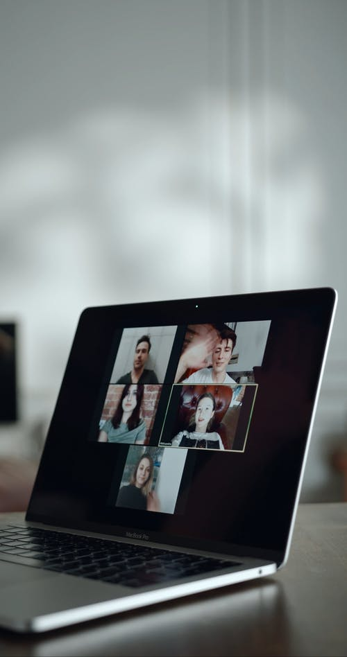 Using A Laptop In A Video Conference